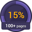 15% discount for 100+ pages order